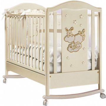 Кроватка Feretti Romance Dondolo (качалка-колесо) (слоновая кость)