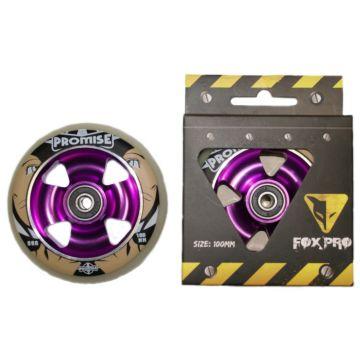 Колесо для самоката FOX 100 мм (белый/пурпурный)