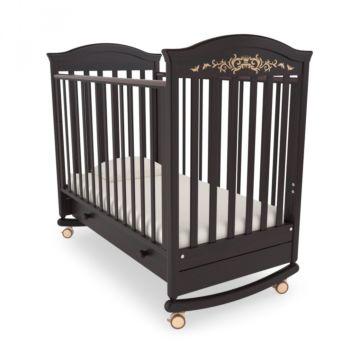 Кроватка детская Гандылян Даниэль Люкс (качалка-колесо) (махагон)