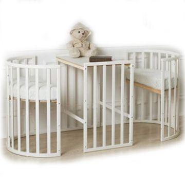 Кроватка-трансформер Roxie Incanto 3 в 1 (белый)