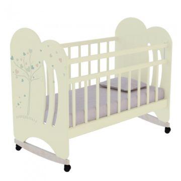 Кроватка детская ВДК Wind Tree (качалка-колесо) (слоновая кость)