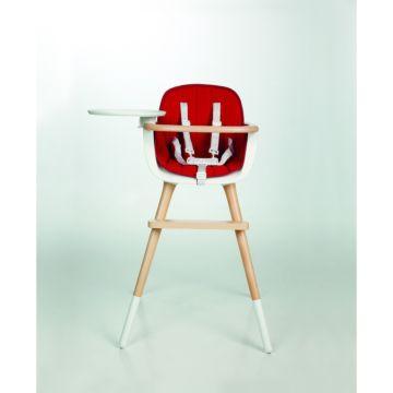 Стульчик Micuna OVO T-1533 белый, текстиль красный