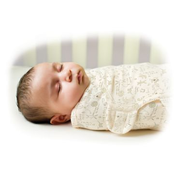 Конверт Summer Infant SwaddleMe Organic S/M (кремовый/зайчики)