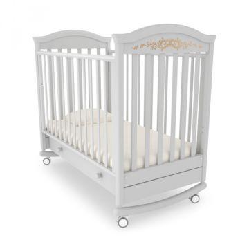 Кроватка детская Гандылян Даниэль Люкс (качалка-колесо) (белая ночь)