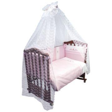 Комплект постельного белья Сонный Гномик Прованс 120х60см (розовый)