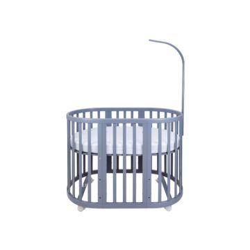 Кроватка-трансформер Ellipse Bed 7 в 1 (серый)