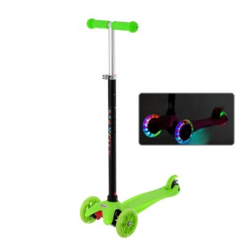 Самокат MaxCity Snoopy со светящимися колесами (green)