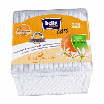 Палочки ватные Bella Cotton Care с D-пантенолом и экстрактом из цветка апельсина 200 шт