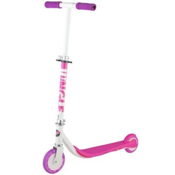 Самокат Novatrack Jungle со светящимся передним колесом (розовый)
