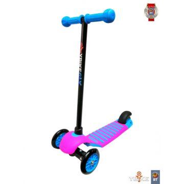 Самокат Y-bike Glider Deluxe Mini New (голубой/розовый)