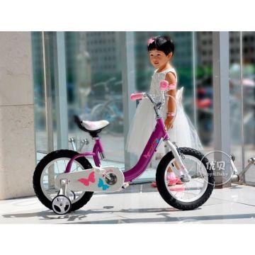 "Детский велосипед Royal Baby Butterfly Steel 16"" (фиолетовый)"