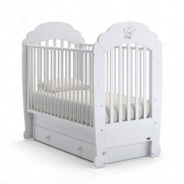 Кроватка детская Nuovita Parte Swing (поперечный маятник) (белый)