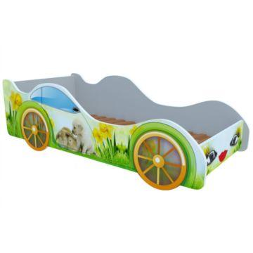 Кровать-машина Кроватка5 Машинки (Кролики и собачка)
