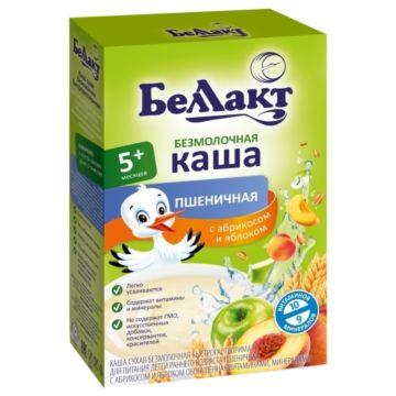 Каша сухая безмолочная пшеничная с абрикосом и яблоком Беллакт (с 5 мес.) 200 г