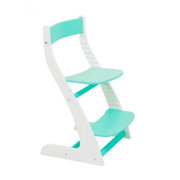 Растущий стул Бельмарко Усура двухцветный (белый-мятный)