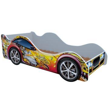 Кровать-машина Кроватка5 Машинки (Красно-желтый дракон)