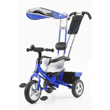 """Трехколесный велосипед VipLex 903-2А с надувными колесами 10"""" и 8"""" (синий)"""