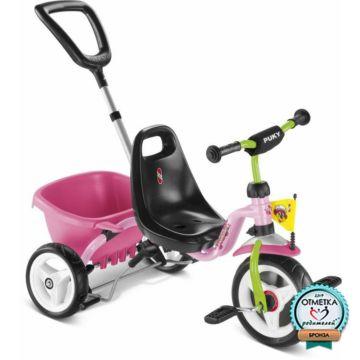 "Трехколесный велосипед Puky CAT 1S с ПВХ-колесами 9"" и 7"" (2016) (pink/kiwi)"