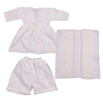 Крестильная рубашка и чепчик Арго для девочки 68-74