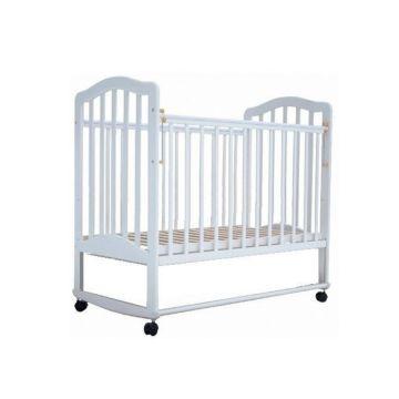 Кроватка детская Saidov Лаура 6 (качалка-колесо) (белый)