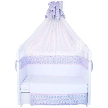 Комплект постельного белья Polini Очарование 120х60см (7 предметов, хлопок, вуаль)