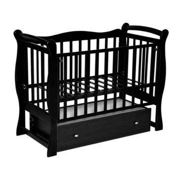 Кроватка детская Кедр Любаша 5 (поперечный маятник) (шоколад)