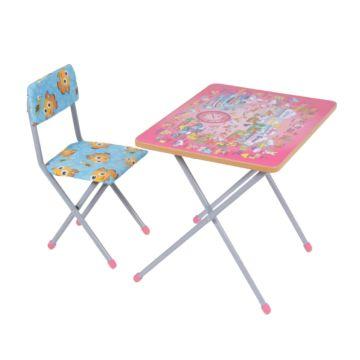 Комплект детской мебели Фея Досуг 201 (Алфавит розовый)