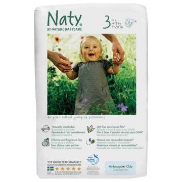 Подгузники Naty 3 (4-9 кг) 31 шт