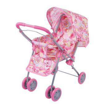 Коляска для куклы Fei Li Toys трость (розовая) FL8161