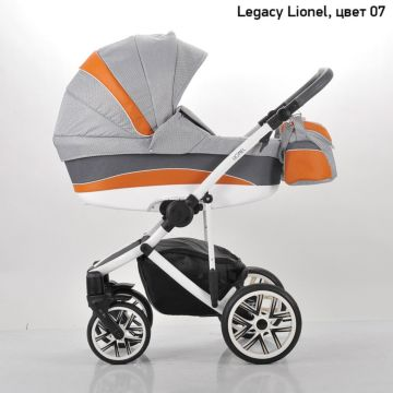 Коляска 2 в 1 Legacy Lionel (серый+коричневая вставка)