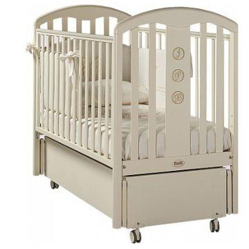 Кроватка детская Feretti Elegance Swing (продольный маятник) (слоновая кость)