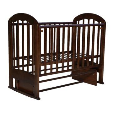 Кроватка детская Кедр Любаша 2-2 (поперечный маятник) (венге)