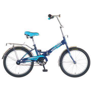 """Велосипед складной Novatrack FS20 20"""" (2016) синий-голубой"""
