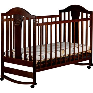 Кроватка детская Наполеон New (качалка-колесо) (махагон)