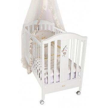 Кроватка детская Feretti Ricordo (колесо) (белая)