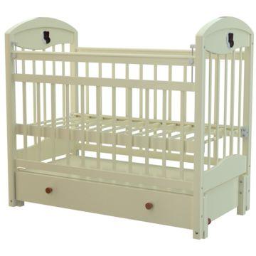 Кроватка детская Briciola 3 с продольным маятником (темная)