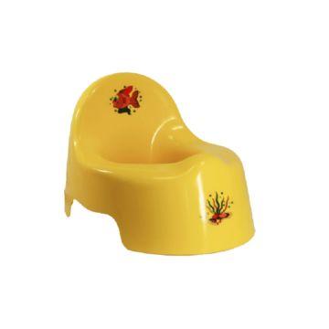 Горшок IDEA (М-Пластика) М2595 (Жёлтый)