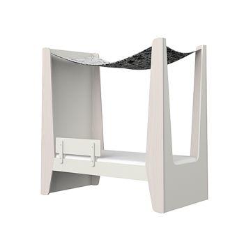 Кроватка-домик Ellipse Line M (молочный)
