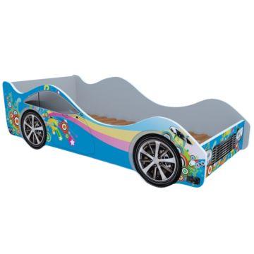 Кровать-машина Кроватка5 Машинки (Радуга синяя)