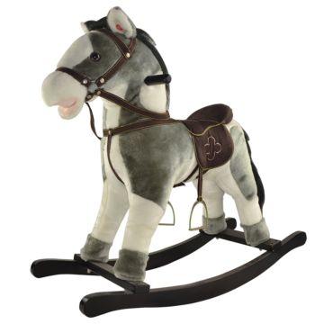 Качалка-лошадь Pituso Fandango (бело-серая)