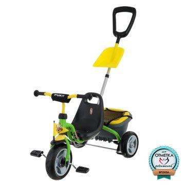 """Трехколесный велосипед Puky CAT 1SP с ПВХ-колесами 9"""" и 7"""" (зеленый)"""