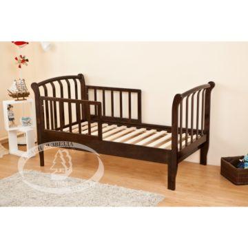 Кроватка-трансформер Можга Савелий С823 раздвижная с барьером (шоколад)