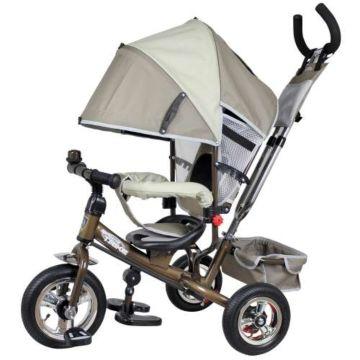 """Трехколесный велосипед Navigator Lexus с надувными колесами 10"""" и 8"""" (серый)"""
