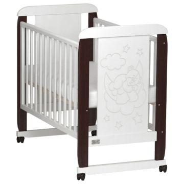 Кроватка детская Kitelli Orsetto (колеса-качалка) (Венге/Белый)