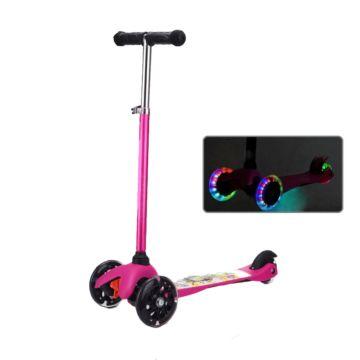 Самокат Ecoline Junior со светящимися колесами (малиновый)