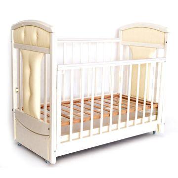 Кроватка детская Birichino Vera с продольным маятником (белый)