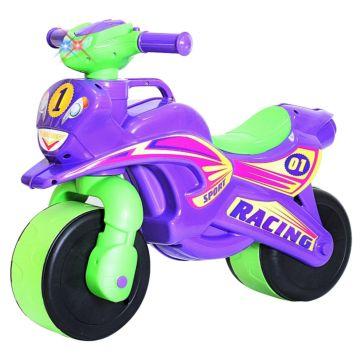 Беговел-мотоцикл RT Motobike Racing со светом и сигналами (фиолетовый)