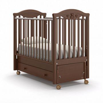 Кроватка детская Nuovita Lusso Swing (продольный маятник) (темный орех)