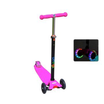 Самокат Ateox M-4 со светящимися колесами (розовый)