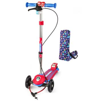 Самокат Small Rider Cosmic Zoo Galaxy Ultimate Pro со светящимися колесами (красный)